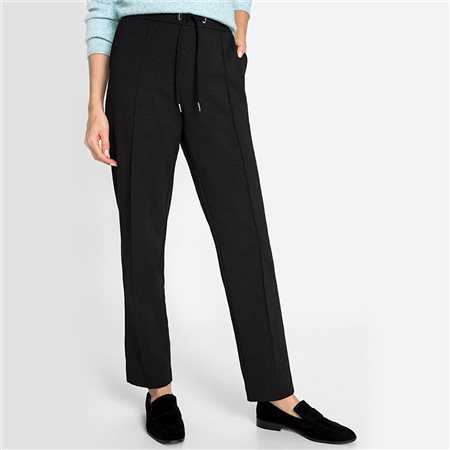 Olsen Tie Waistband Casual Lisa Fit Trouser Grey  - Click to view a larger image
