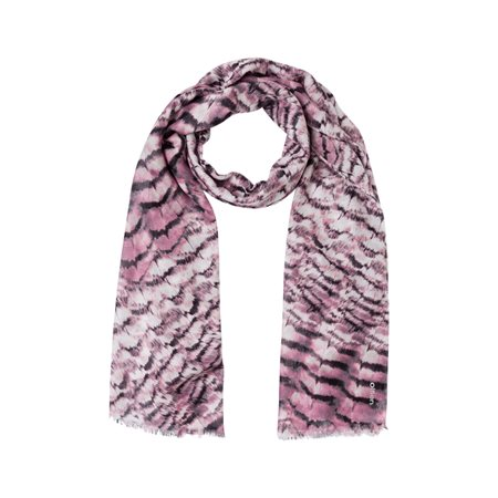 Olsen Feather Print Scarf Blush  - Click to view a larger image