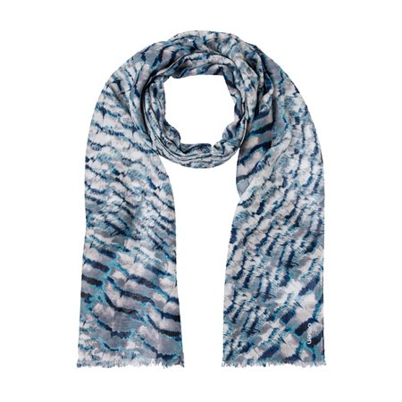 Olsen Feather Print Scarf Mint  - Click to view a larger image