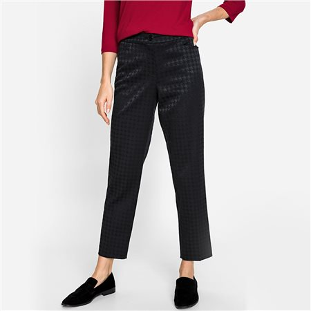 Olsen Houndstooth Pattern Trouser Black  - Click to view a larger image