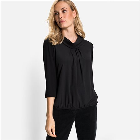 Olsen Cowl Neck Top Black  - Click to view a larger image