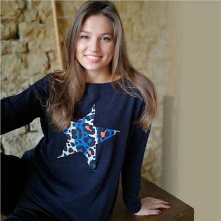 Luella Lucille Star Jumper Navy  - Click to view a larger image