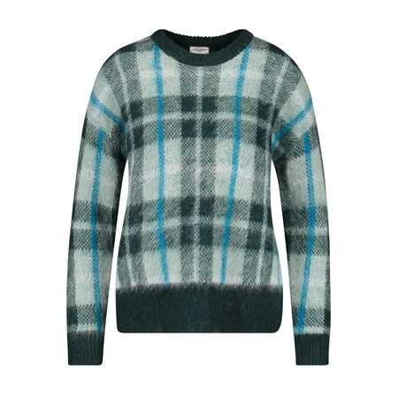 Gerry Weber Check Design Jumper Green  - Click to view a larger image