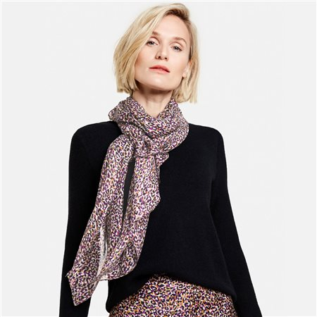 Gerry Weber Leopard Print Scarf Lilac  - Click to view a larger image