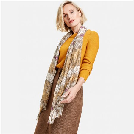 Gerry Weber Mesh Print Scarf Yellow  - Click to view a larger image