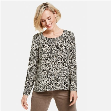Gerry Weber Leopard Print Blouse Black  - Click to view a larger image