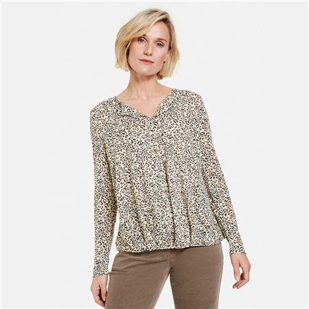 Gerry Weber Leo Print Design Top Black  - Click to view a larger image