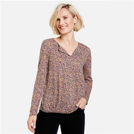 Gerry Weber Leo Print Design Top Lilac  - Click to view a larger image