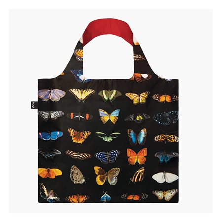 Loqi Butterflies & Moths Bag Red  - Click to view a larger image