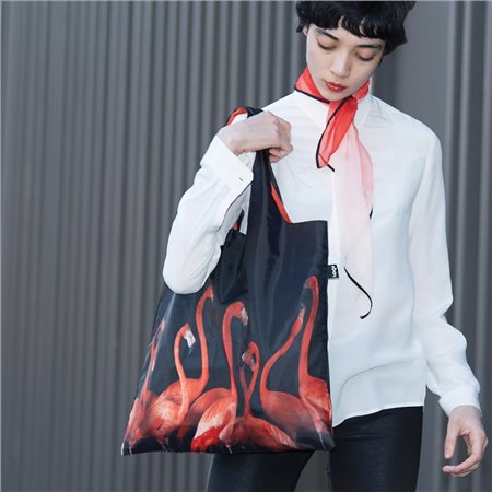 Loqi Flamingos Bag Red  - Click to view a larger image