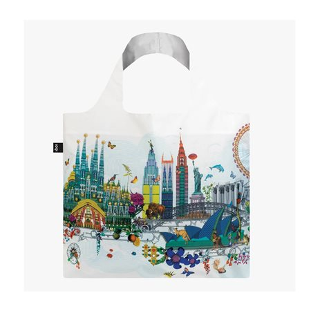 Loqi World Skyline Bag White  - Click to view a larger image