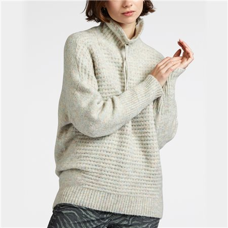 Sandwich Rib Knit Jumper Almond  - Click to view a larger image