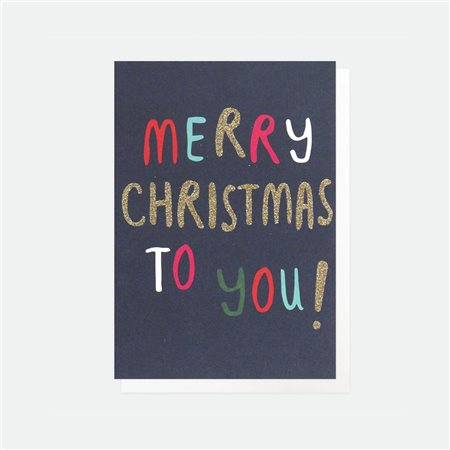 Caroline Gardner Merry Christmas To You Card Pack Blue  - Click to view a larger image