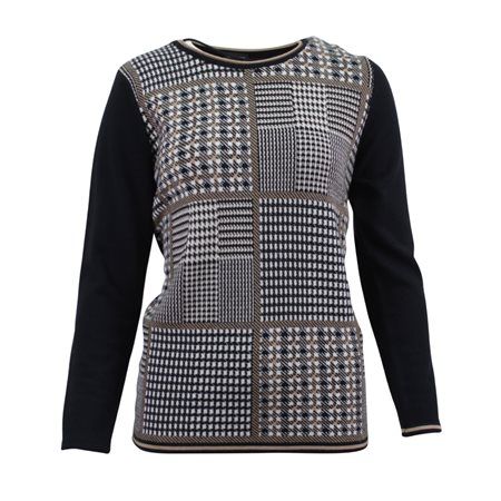 Lebek Check Pattern Jumper Camel  - Click to view a larger image