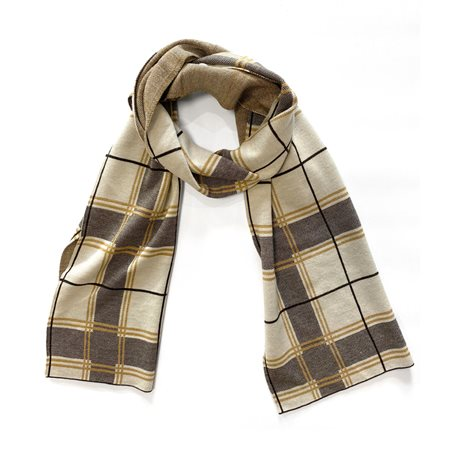 Gerry Weber Check Scarf Mustard  - Click to view a larger image