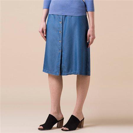 Emreco Denim Midi Length Skirt  - Click to view a larger image