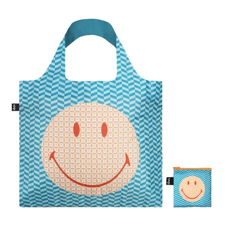 Loqi Geometric Recycled Bag Blue  - Click to view a larger image