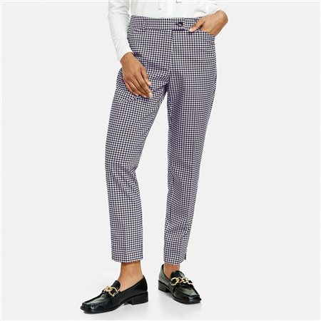 Taifun 7/8 Check Trousers Navy  - Click to view a larger image