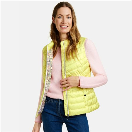 Gerry Weber Quilted Gilet Lemon  - Click to view a larger image