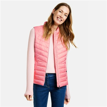 Gerry Weber Quilted Gilet Pink  - Click to view a larger image