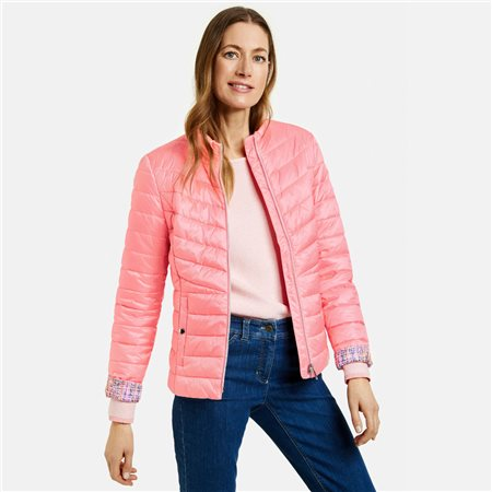 Gerry Weber Quilted Coat Pink  - Click to view a larger image