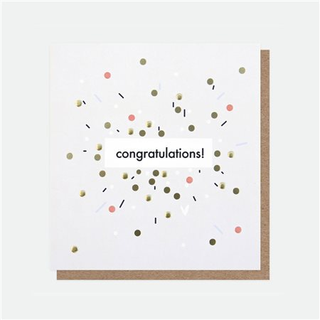 Caroline Gardner Congratulations Foil Card White  - Click to view a larger image
