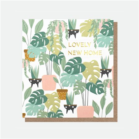 Caroline Gardner Lovely New Home Foil Card White  - Click to view a larger image