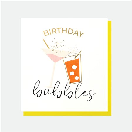 Caroline Gardner Birthday Bubbles Card White  - Click to view a larger image