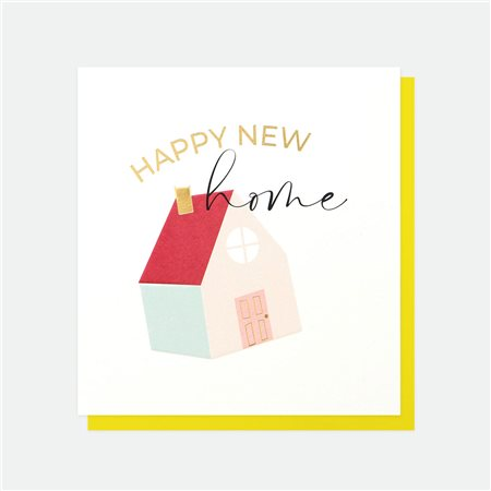 Caroline Gardner Happy New Home Card White  - Click to view a larger image