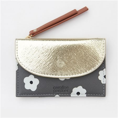 Caroline Gardner Daisy Cardholder Coin Purse Gold  - Click to view a larger image