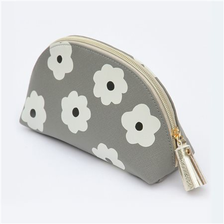 Caroline Gardner Daisy Spot Cosmetic Bag White  - Click to view a larger image