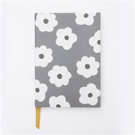 Caroline Gardner Daisy Spot Notebook White  - Click to view a larger image
