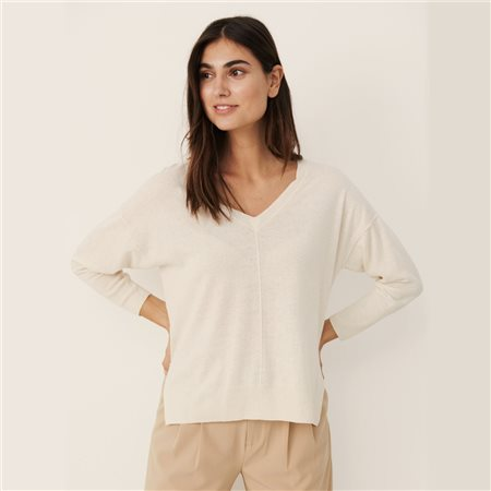 Part Two Hania V Neck Jumper Cream 1