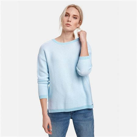 Taifun Ribbed Jumper Blue  - Click to view a larger image