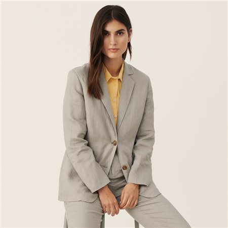 Part Two Hanna Linen Jacket Grey  - Click to view a larger image