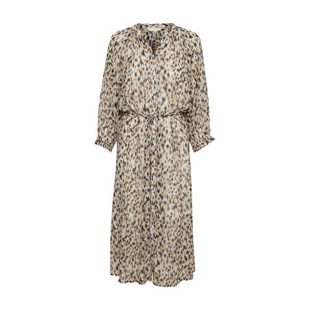 Part Two Hoang Patterned Dress Beige  - Click to view a larger image