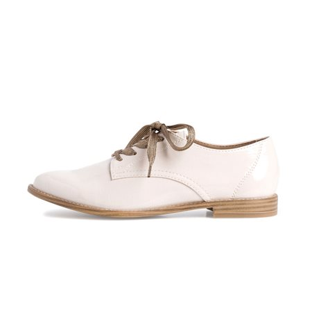 Tamaris Isabelle Lace Up Shoe Cream  - Click to view a larger image