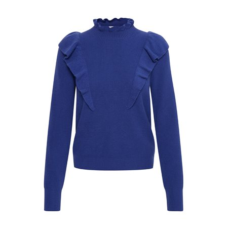 Part Two Heyin Jumper With Frill Detail Royal  - Click to view a larger image