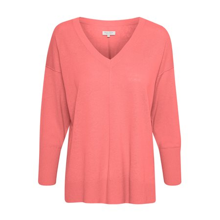 Part Two Hania V Neck Jumper Pink  - Click to view a larger image