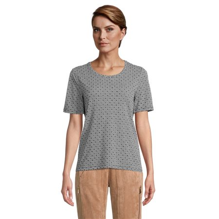 Betty Barclay Top With All Over Pattern Navy  - Click to view a larger image