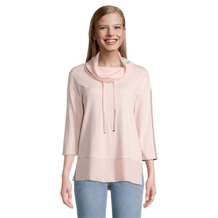 Betty Barclay Cowl Neck Jumper With Tie Detail Pink  - Click to view a larger image