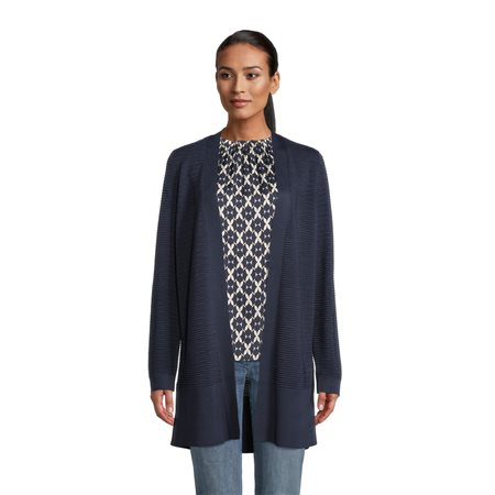 Betty Barclay Longline Knitted Cardigan Navy  - Click to view a larger image