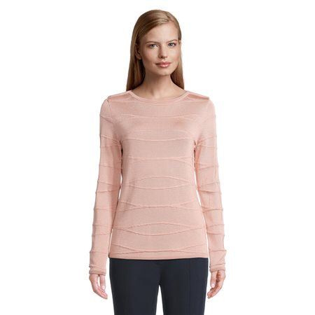 Betty Barclay Wave Effect Jumper Pink  - Click to view a larger image
