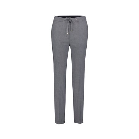 Betty Barclay Turn Up Trouser With Tie Waist Blue  - Click to view a larger image
