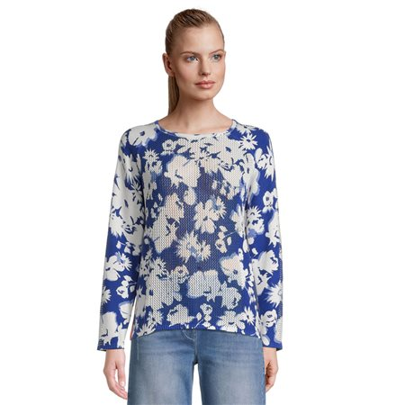 Betty Barclay Floral Print Jumper Blue 1