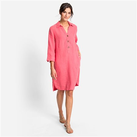 Olsen Linen Dress Raspberry 1