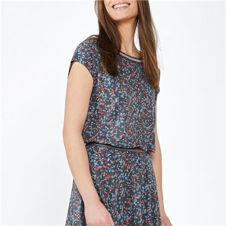 Sandwich Scattered Spot Print Top Red 1