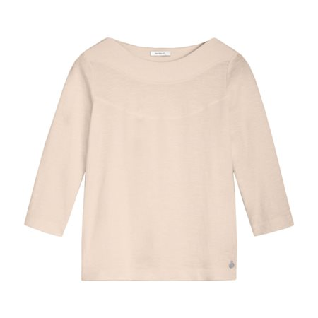 Sandwich High Neck Cotton Top Beige 1