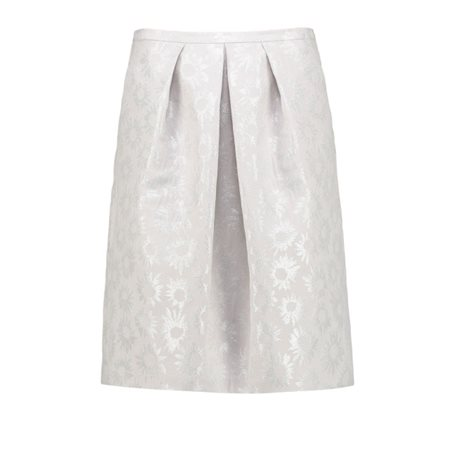 Taifun Metallic Flower Print Skirt  - Click to view a larger image
