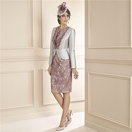 Zeila Lace Dress And Jacket Grape 20